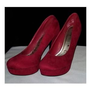 Brash Red High Heel Pumps